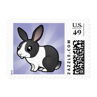 Cartoon Rabbit (uppy ear smooth hair) Postage Stamps