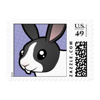Cartoon Rabbit (uppy ear smooth hair) Stamps