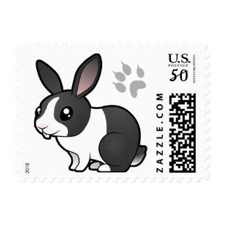Cartoon Rabbit (uppy ear smooth hair) Postage