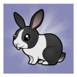 Cartoon Rabbit (uppy ear smooth hair) Poster