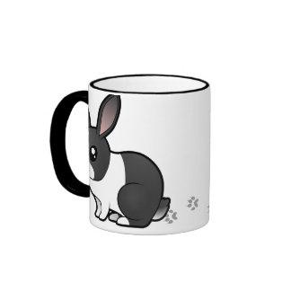 Cartoon Rabbit (uppy ear smooth hair) Ringer Mug