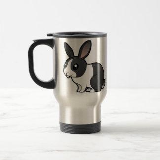 Cartoon Rabbit (uppy ear smooth hair) Travel Mug