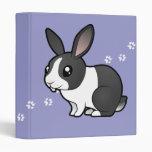 Cartoon Rabbit (uppy ear smooth hair) Vinyl Binder