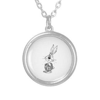Cartoon Rabbit Wearing a Barrel Custom Necklace