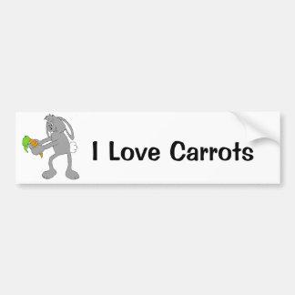 Cartoon Rabbit With Carrot Bumper Sticker
