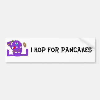 Cartoon Rabbit With Pancakes Bumper Sticker