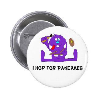 Cartoon Rabbit With Pancakes Button