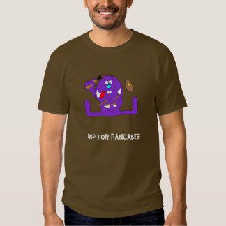 Cartoon Rabbit With Pancakes T Shirt