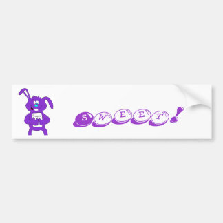 Cartoon Rabbit With Sugar Bumper Sticker