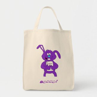 Cartoon Rabbit With Sugar Tote Bag