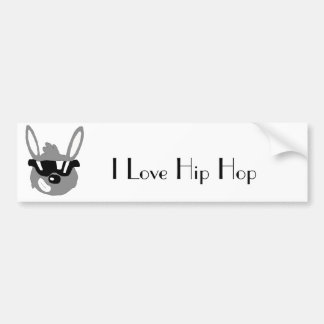 Cartoon Rabbit With Sunglasses Bumper Sticker