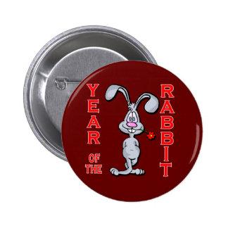 Cartoon Rabbit Yr of the Rabbit Gifts Button