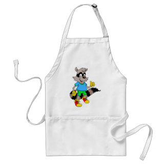 Cartoon Raccoon Adult Apron