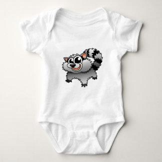 Cartoon Raccoon Baby Bodysuit