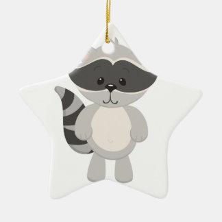Cartoon Raccoon Ceramic Ornament