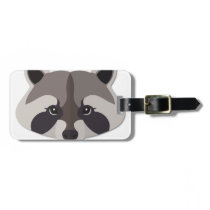 Cartoon Raccoon Head Bag Tag