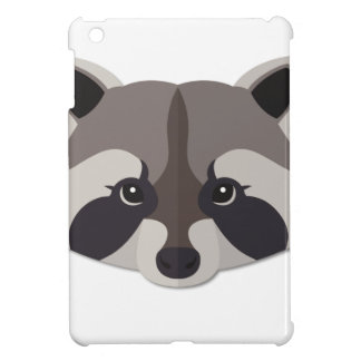 Cartoon Raccoon Head iPad Mini Case