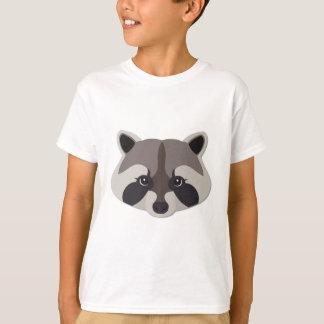 Cartoon Raccoon Head T-Shirt