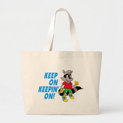 Cartoon Raccoon Jumbo Tote Bag