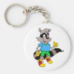Cartoon Raccoon Key Chain