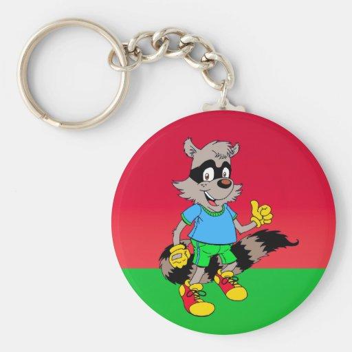 Cartoon Raccoon Key Chains