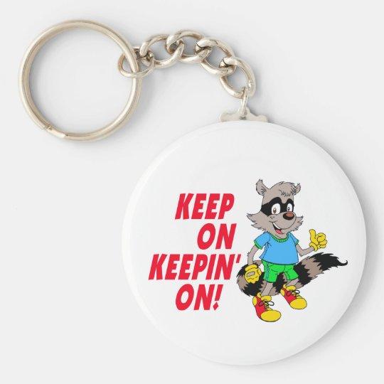 Cartoon Raccoon Keychain
