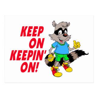 Cartoon Raccoon Postcard