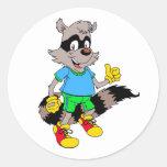 Cartoon Raccoon Sticker