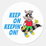 Cartoon Raccoon Stickers