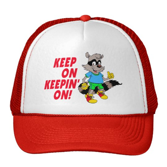 Cartoon Raccoon Trucker Hat