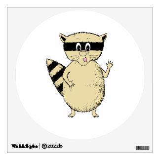 Cartoon Raccoon Wall Sticker