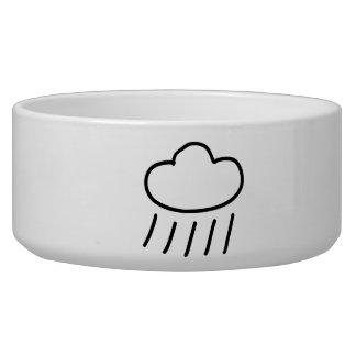 Cartoon Rain Cloud Dog Bowl