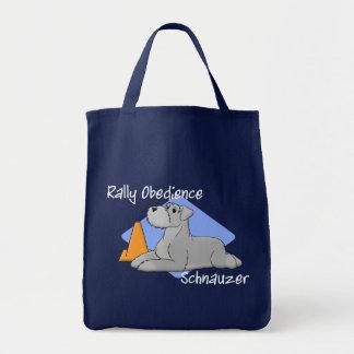 Cartoon Rally Obedience Schnauzer Tote Bag