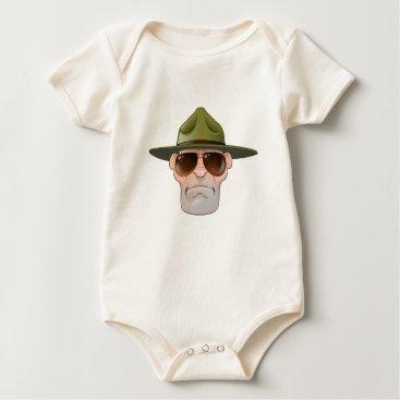 Cartoon Ranger or Drill Sergeant Baby Bodysuit