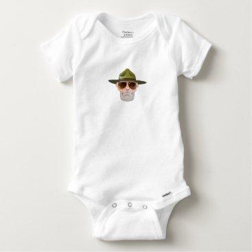 Cartoon Ranger or Drill Sergeant Baby Onesie