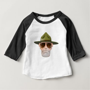 Cartoon Ranger or Drill Sergeant Baby T-Shirt