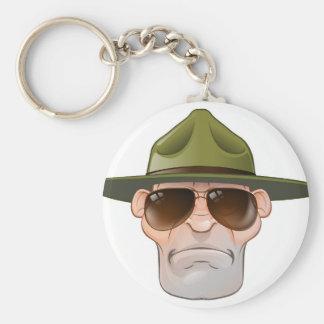 Cartoon Ranger or Drill Sergeant Keychain