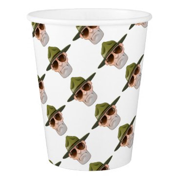 Cartoon Ranger or Drill Sergeant Paper Cup