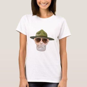 Cartoon Ranger or Drill Sergeant T-Shirt