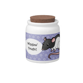 Cartoon Rat Candy Jar