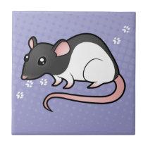 Cartoon Rat Ceramic Tile