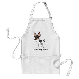 Cartoon Rat Terrier / Toy Fox Terrier Adult Apron