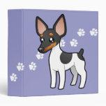 Cartoon Rat Terrier / Toy Fox Terrier Vinyl Binders