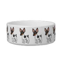 Cartoon Rat Terrier / Toy Fox Terrier Bowl