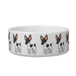 Cartoon Rat Terrier / Toy Fox Terrier Bowl