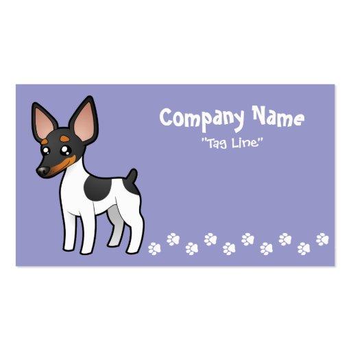 Cute kawaii business card templates page3 bizcardstudio cartoon rat terrier toy fox terrier business card colourmoves