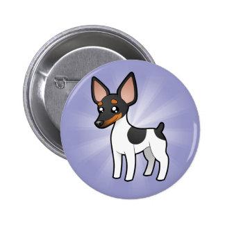 Cartoon Rat Terrier / Toy Fox Terrier 2 Inch Round Button