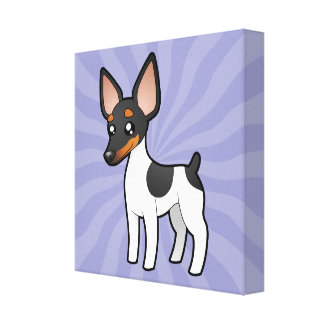 Cartoon Rat Terrier / Toy Fox Terrier Canvas Print
