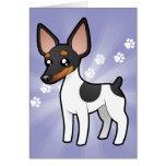 Cartoon Rat Terrier / Toy Fox Terrier Greeting Cards