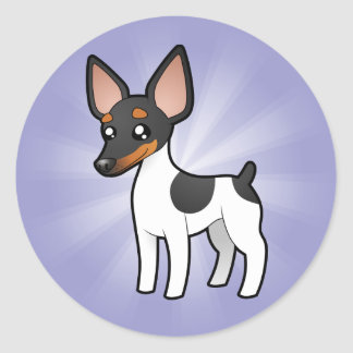 Cartoon Rat Terrier / Toy Fox Terrier Classic Round Sticker